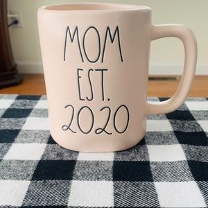 Rae Dunn PINK MOM EST 2020 mug